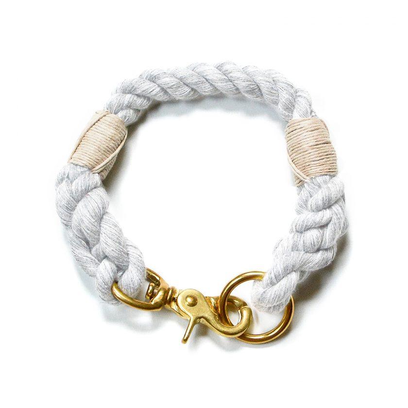 Nautical Gray Dog Collar