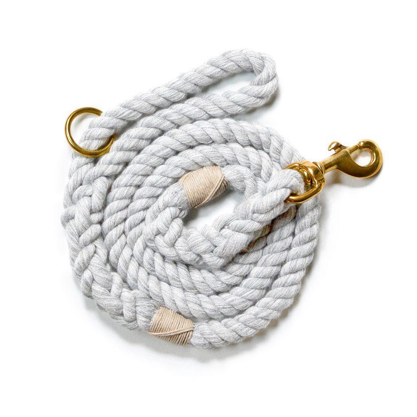 Nautical Rope Gray Dog Leash