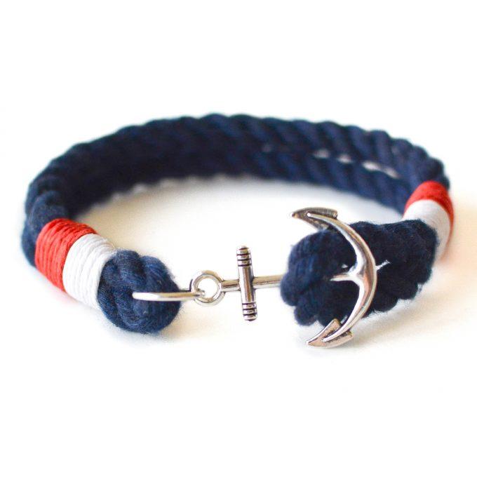 Nautical rope bracelet in Navy