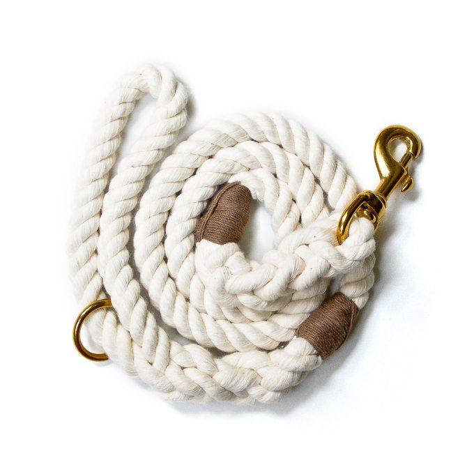 Nautical rope dog leash
