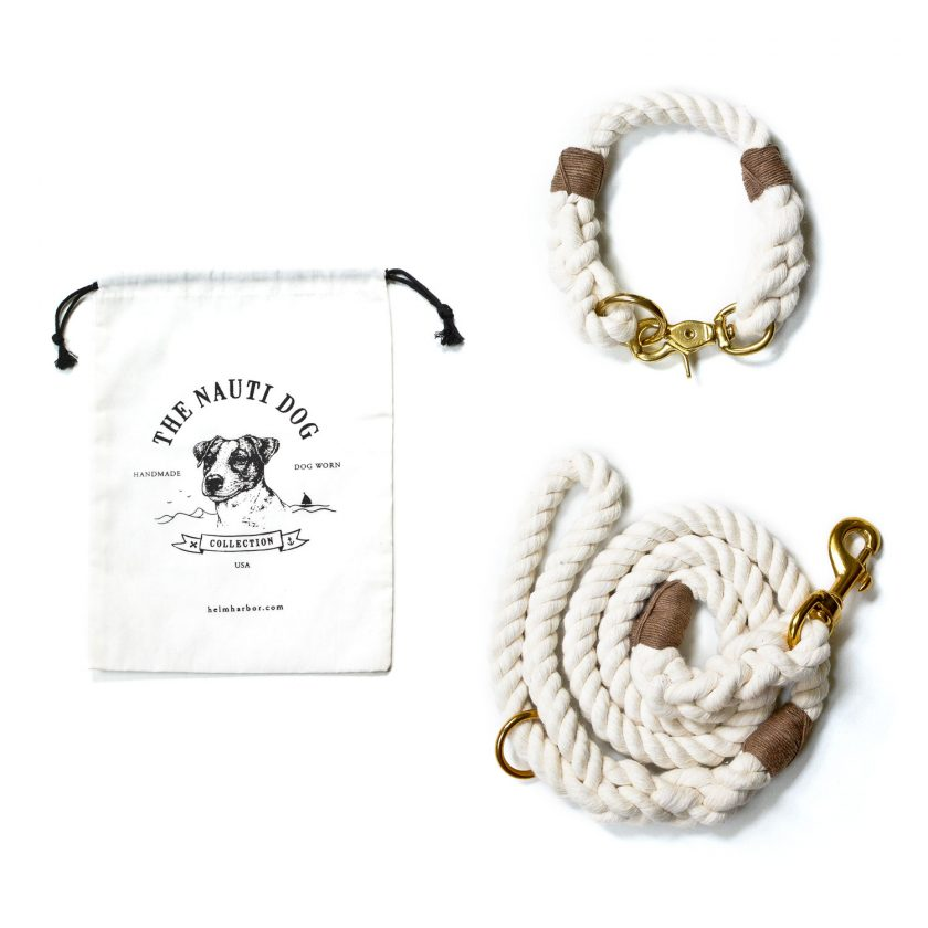 Nautical Leash and Collar in White