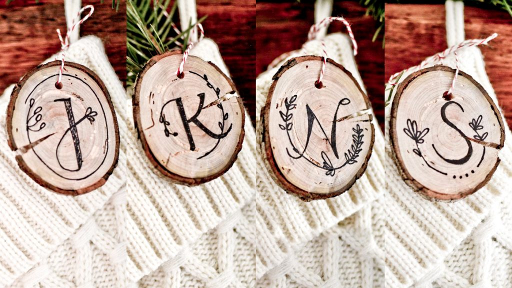 christmas stockings personalized wood tags