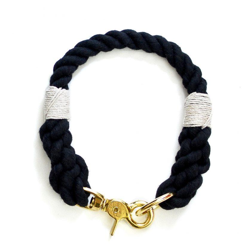 black rope collar